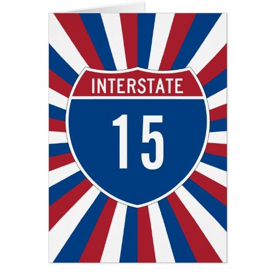 Zwischenstaatliche 15 karte
