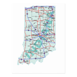 Zwischenstaatliche Karten-Postkarte Indianas Postkarte