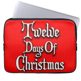 Zwölf Tage Weihnachten Laptopschutzhülle
