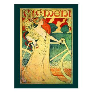 Zyklen Clément Vintages Fahrrad-Plakat Postkarte
