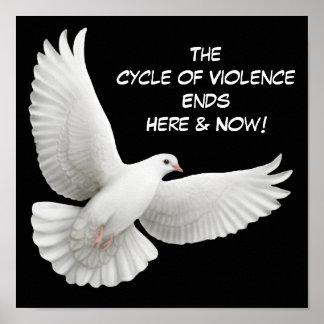 Zyklus der Gewalt beendet hier Plakat
