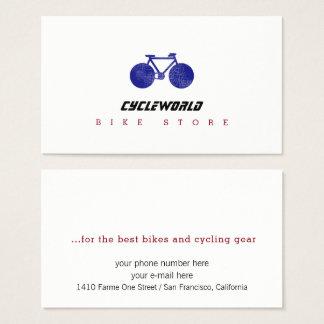 Zyklusspeicher-Visitenkarte mit Fahrrad Visitenkarte