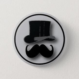 Zylinder-und Schnurrbart-Knopf Runder Button 5,1 Cm