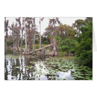 Zypresse-Bäume und Wasser-Lilienen-Karte Karte