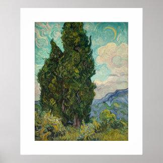 """""""Zypressen"""" durch Van Gogh Poster"""