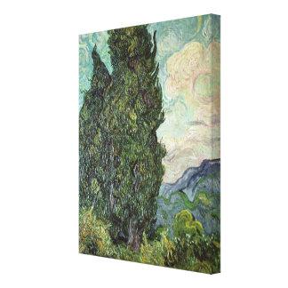Zypressen Vincent van Goghs |, 1889 Leinwanddruck