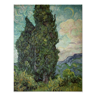 Zypressen Vincent van Goghs |, 1889 Poster